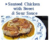 Sauteed Chicken with Sweet & Sour Sauce