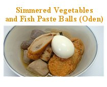 Simmered Vegetables and Fish Paste Balls