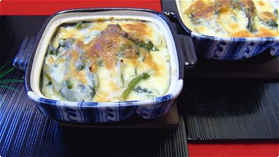 Tofu Cream Gratin with Chicken