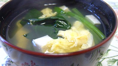 Tofu & Spinach Clear Soup