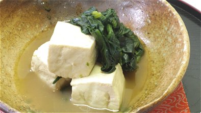 Simmered Tofu & Spinach