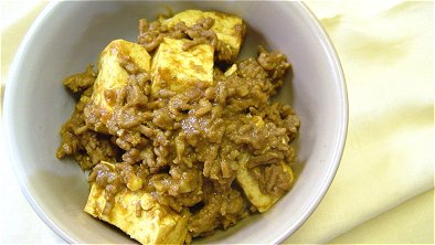 Simmered Tofu & Ground Meat with Curry Powder Bowl