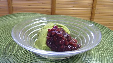 Ice Cream with Mashed Sweetened Red Bean Paste