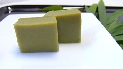 Green Tea Steamed Cake Confection