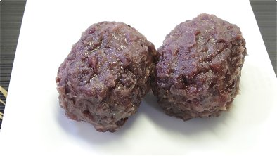 Rice Coated with Sweetened Red Bean Paste