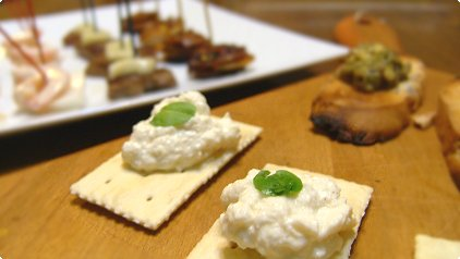 Tofu & Cream Cheese Canapé