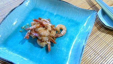 Pan-Broiled Shrimps with Garlic & Soy Sauce