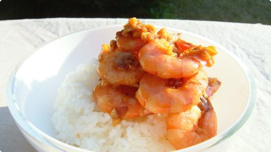Pan-Broiled Shrimps Bowl
