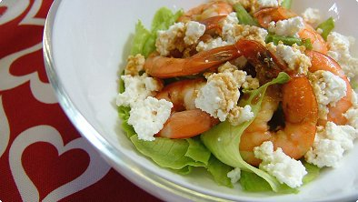Shrimp & Cottage Cheese Salad with Wasabi Dressing