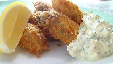 Deep-Fried Breaded Oysters