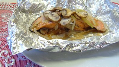 Japanese-Style Salmon Baked in Foil
