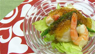 Seafood Salad with Soy Sauce Jelly