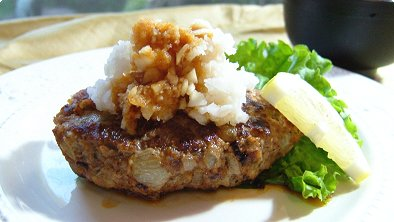 Hamburger Steak with Grated Radish