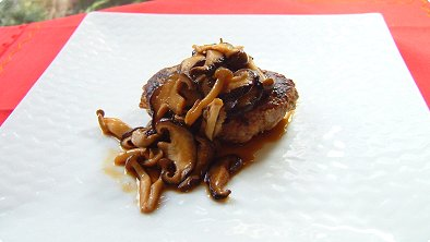 Hamburger Steak with Mushroom Sauce