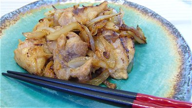 Seared Chicken & Onion with Soy Sauce & Garlic Powder