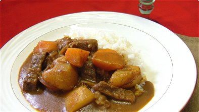 Curry & Demi-Glace Sauce with Rice