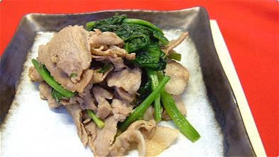 Seared Pork & Spinach with Soy Sauce & Butter