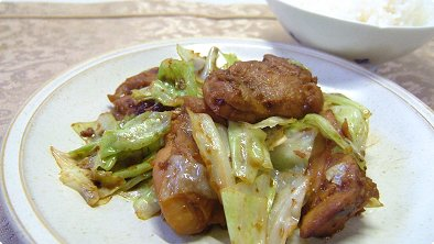 Pan–Broiled Chicken & Cabbage with Miso