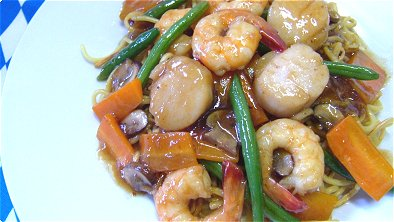 Fried Noodles with Scallops & Shrimps