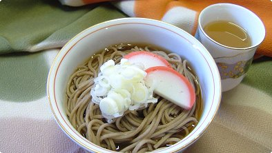 Buckwheat Noodles with Soy Sauce Soup