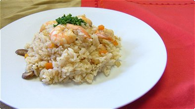 Mixed Rice with Seared Shrimp & Vegetables