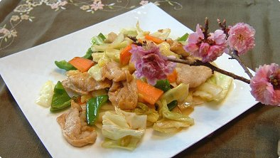 Sauteed Vegetable with Pork