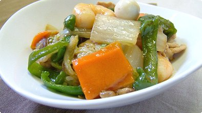 Japanese-Style Chop Suey Bowl