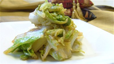 Seared Napa Cabbage with Soy Sauce