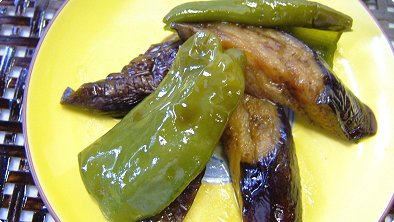 Braised Eggplant & Green Pepper