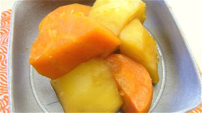 Simmered Potatoes & Carrot